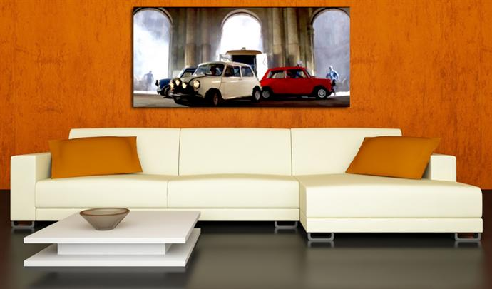 Depiction of ItalianJob2 on a drawing room wall.