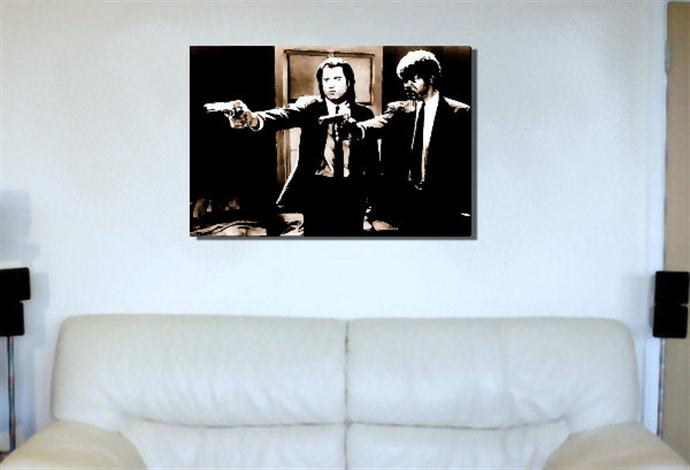 Depiction of pulpfiction4 on a drawing room wall.